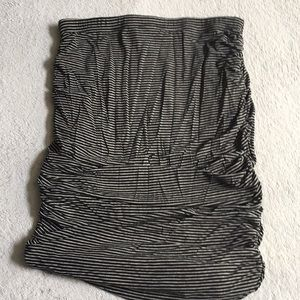 Ruched high waisted skirt